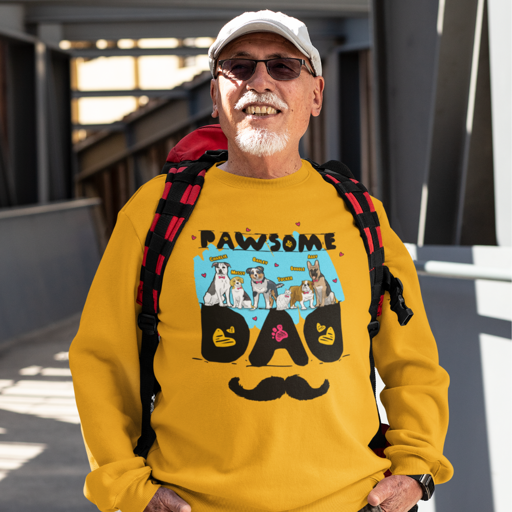 Pawsome Dad Personalized Sweatshirt