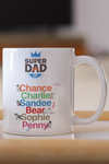Personalized Super Dad Mug