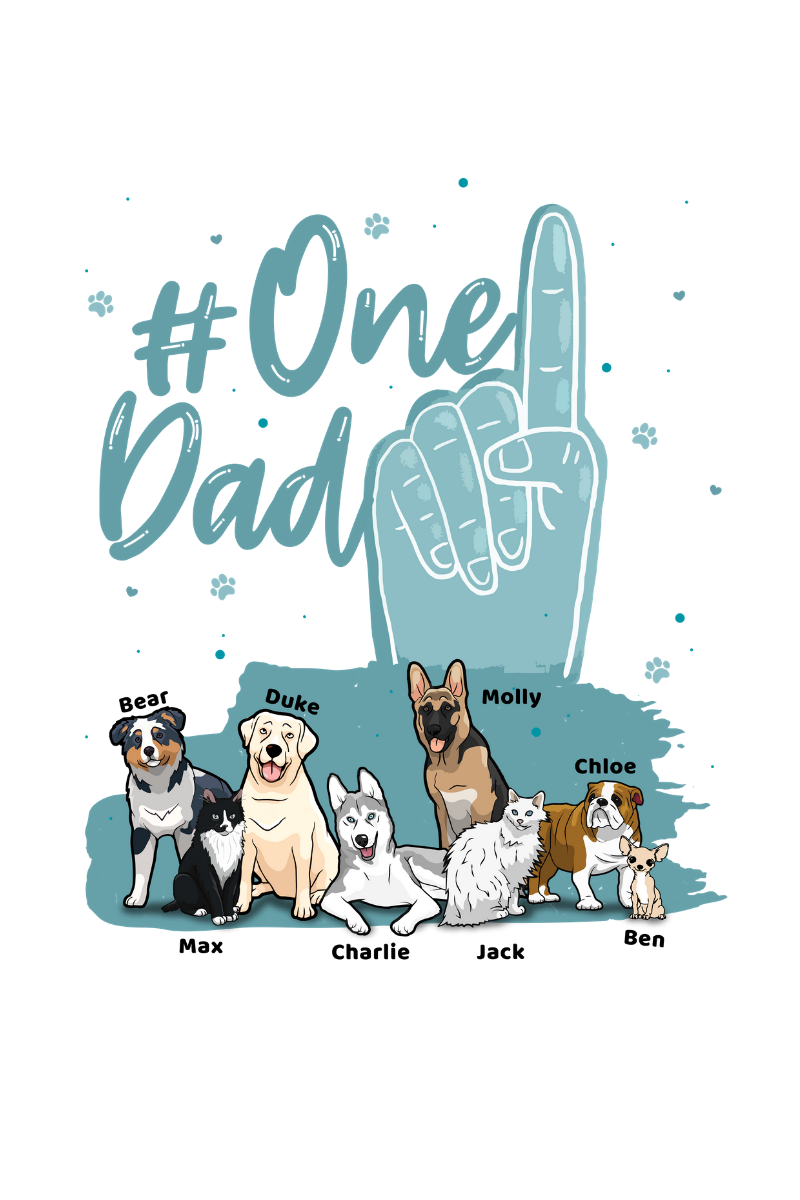 Customized Dad Dog Hoodies