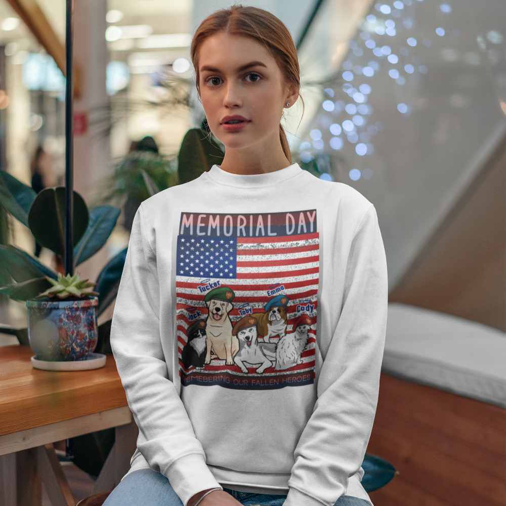 Customized Memorial Day Sweatshirt For Pet Lovers