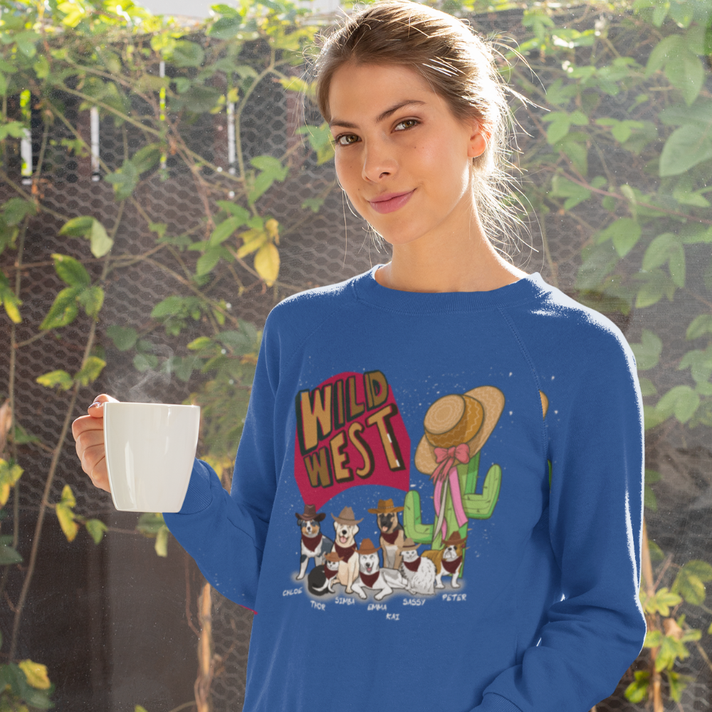 Wild West Customized Sweatshirt For DogLovers