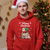 Santa Themed Customized Merry Christmas Dog Lover Hoodie