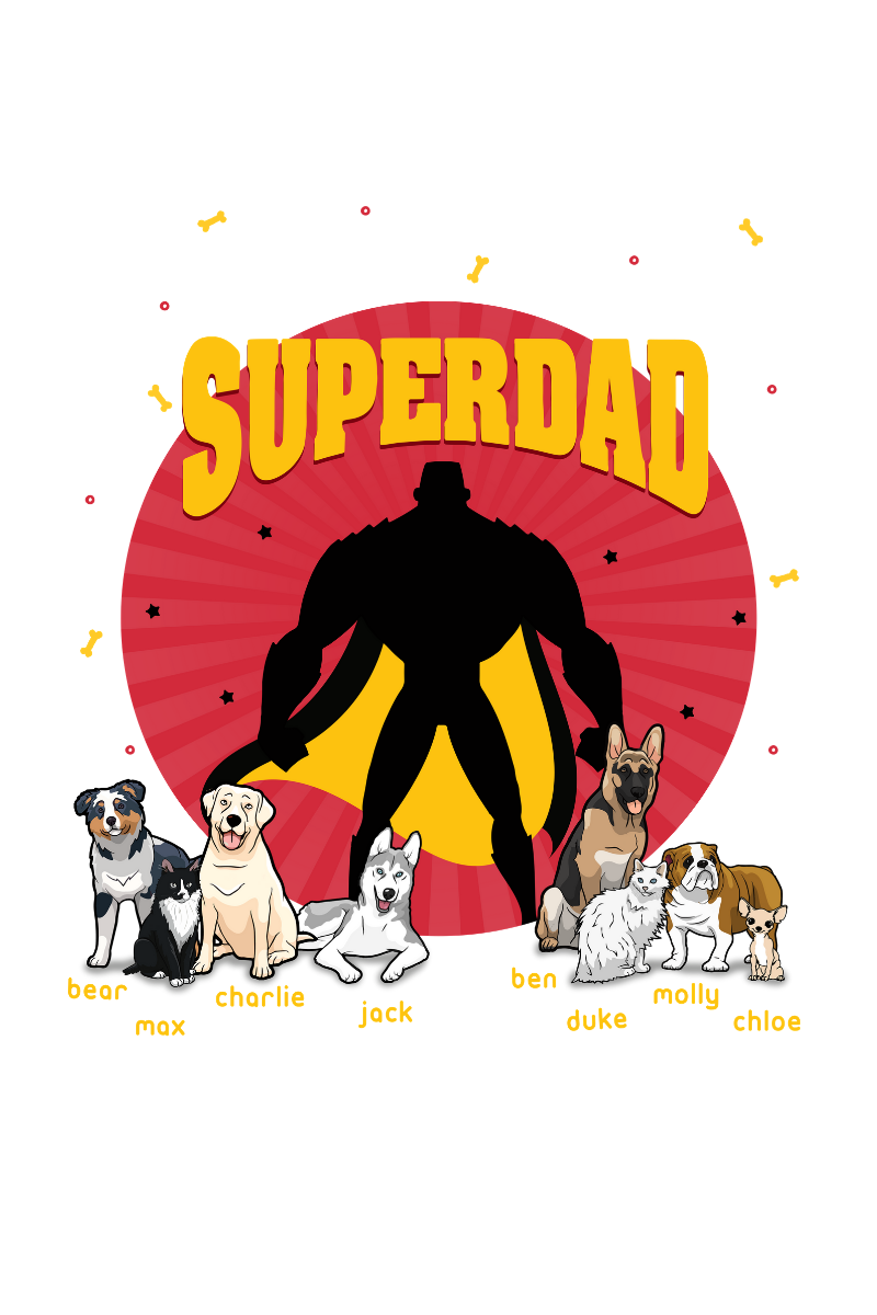 Personalized Superdad Dog Mug