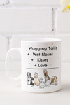 Wagging Tail + Wet Noses + Kisses + Love Dog Mom Mug