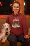 Personalized Merry Christmas Dog Lover Hoodie