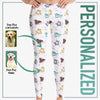 Furry Babies Geometrical Design All Over Printed Leggings