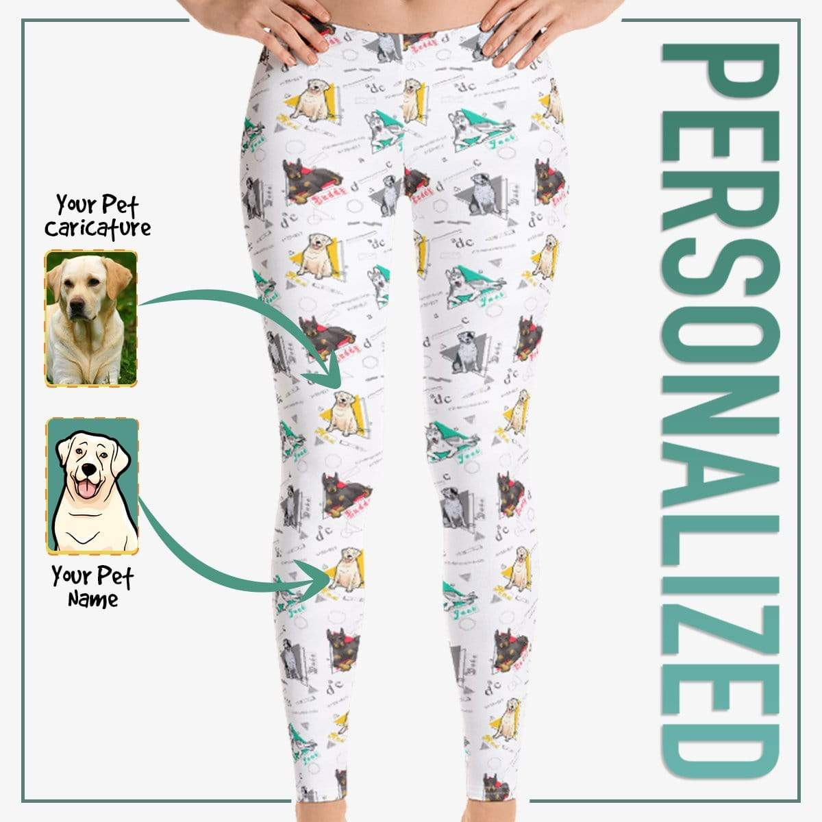 Personalized Dog Mom Gifts By Pupnpaws Classic Leggings Furry Babies Geometrical Design All Over Printed Leggings