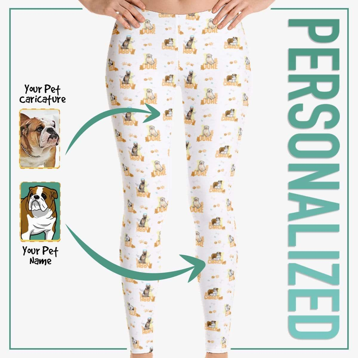 Personalized Dog Mom Gifts By Pupnpaws Classic Leggings HotPink / XS All Over Printed Leggings For Dog Lovers