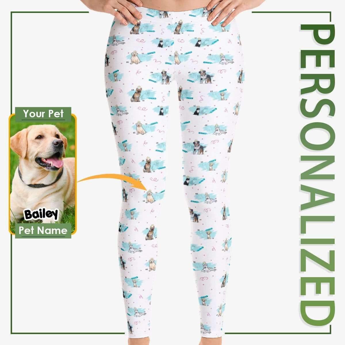 Personalized Dog Mom Gifts By Pupnpaws Classic Leggings Purple / XS Personalized Abstract Leggings For Pup-Lovers