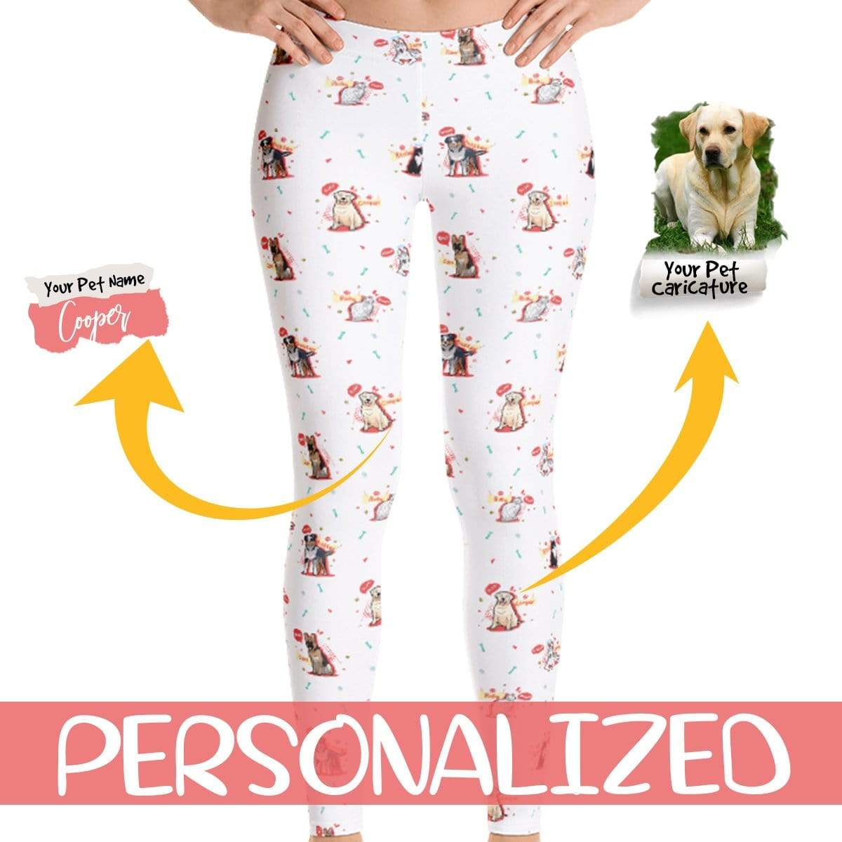 Personalized Dog Mom Gifts By Pupnpaws Classic Leggings Personalized Leggings For Dog Moms