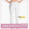 Personalized 'Meow-Bow Bonding' Leggings