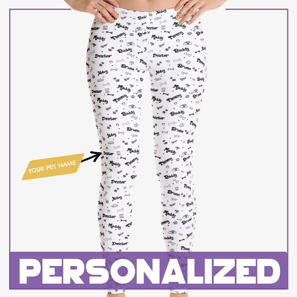 Personalized Dog Mom Gifts By Pupnpaws Classic Leggings XS Amazing Personalized Legging For Dog-Mom