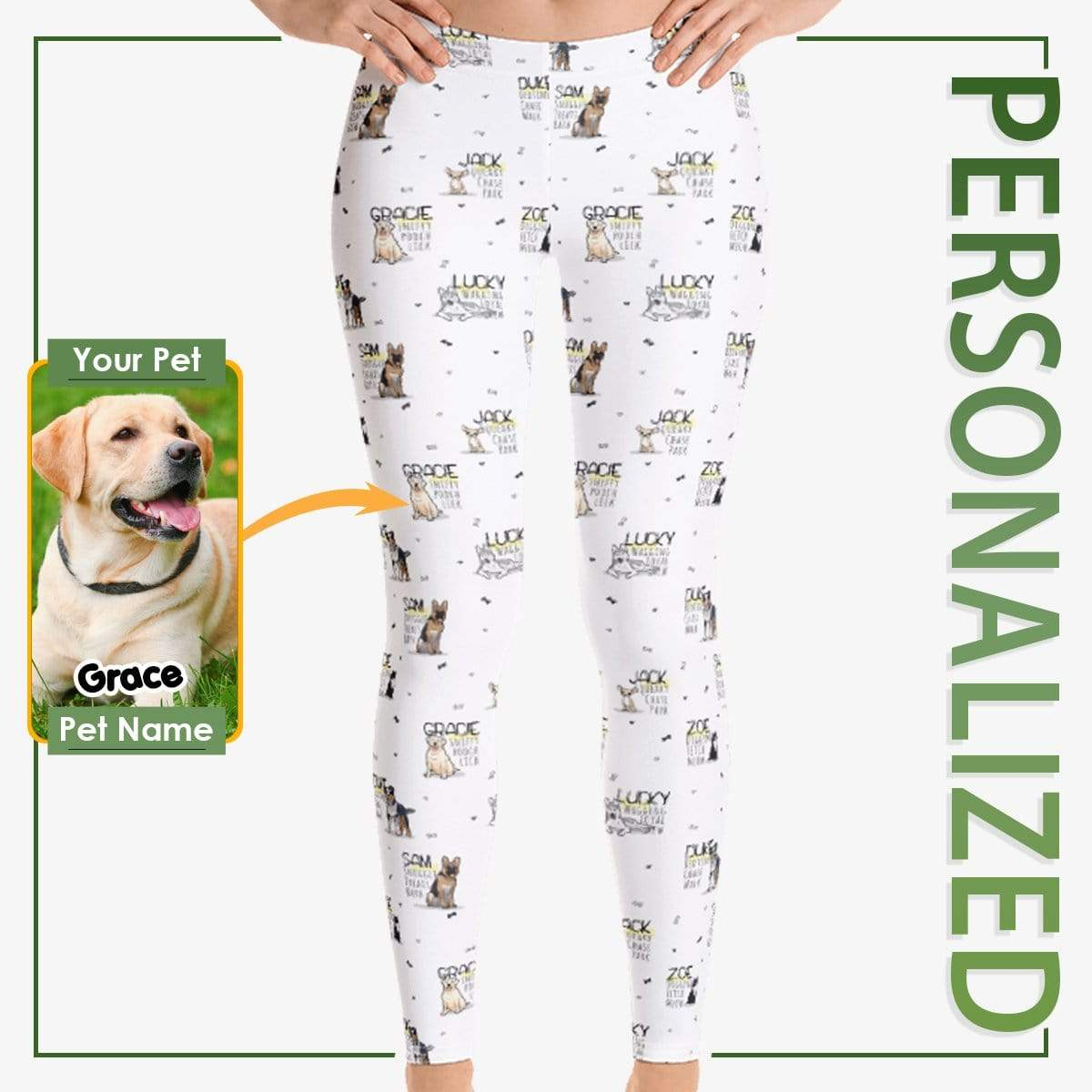 Personalized Dog Mom Gifts By Pupnpaws Classic Leggings XS Custom-Made Dog Qualities Leggings