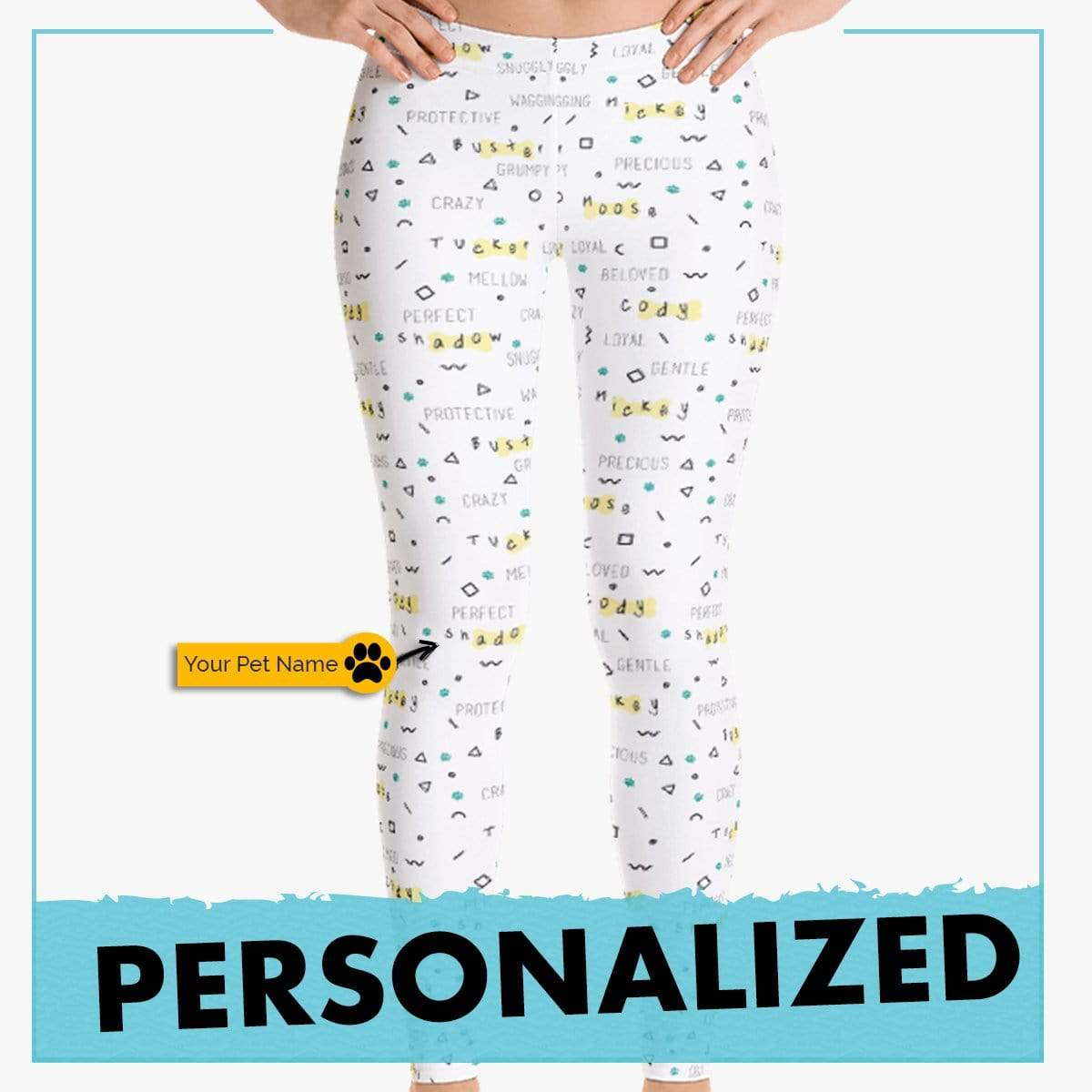 Personalized Dog Mom Gifts By Pupnpaws Classic Leggings XS Personalized 'Meow-Bow Bonding' Leggings