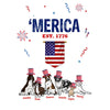 """MERICA"" Personalized Tee For Dog Lovers"