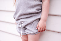 Grey Brain Cancer Shorts & Tee Set