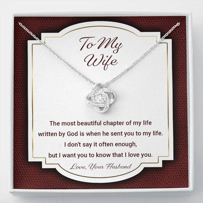 To My Wife - The Most Beautiful Chapter - Necklace