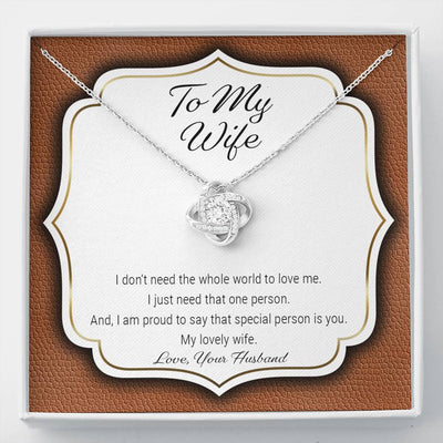 To My Wife - My Special Person - Necklace