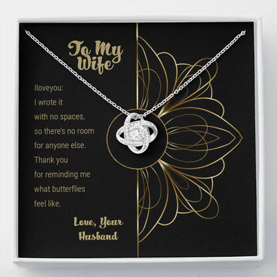 To My Wife - What Butterflies Feel Like - Necklace