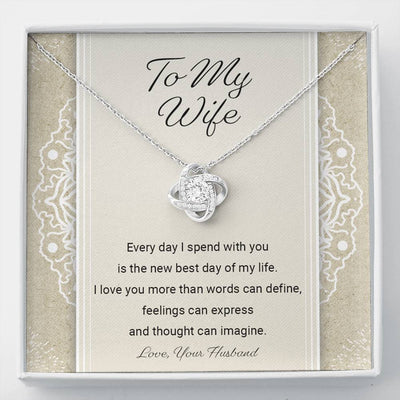 To My Wife - I Love You - Necklace