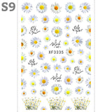 Sun Flowers Nail Art Stickers