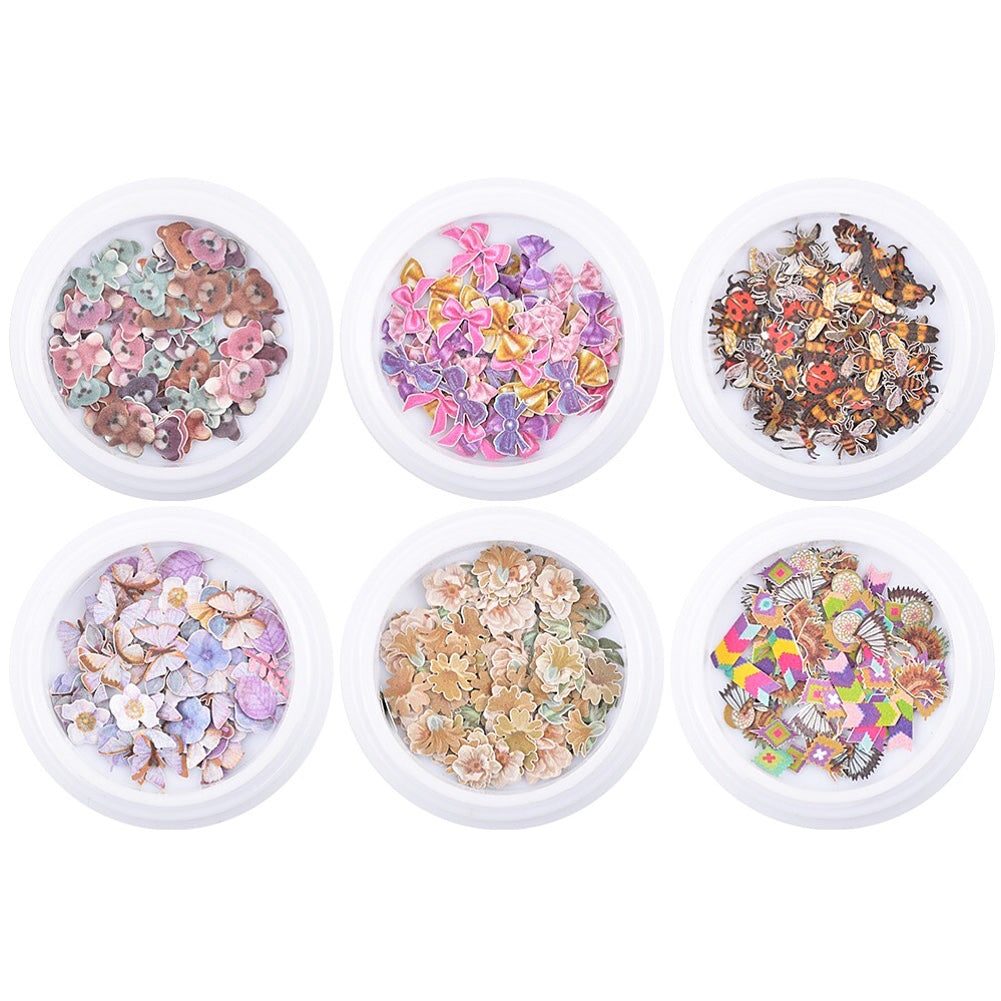 Japanese Mix Pattern Sequins Set Nail Art Decoration (6 Jar)