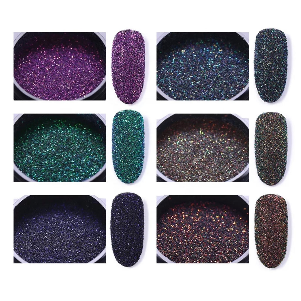 Super fine Glitter Nail Art Decoration (6 Colors)