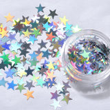 3D Star Holographic  Glitter Nail Art Decoration