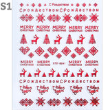 Red Christmas Design Nail Art Stickers