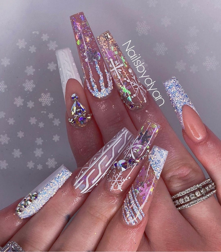Snowflakes Nail Art Glitter Decoration (6 Colors)