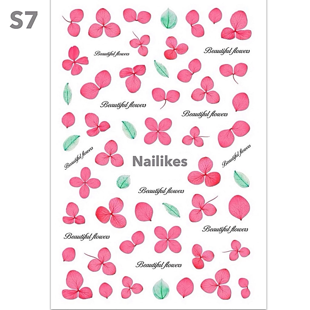 Dry Flowers Nail Art Stickers
