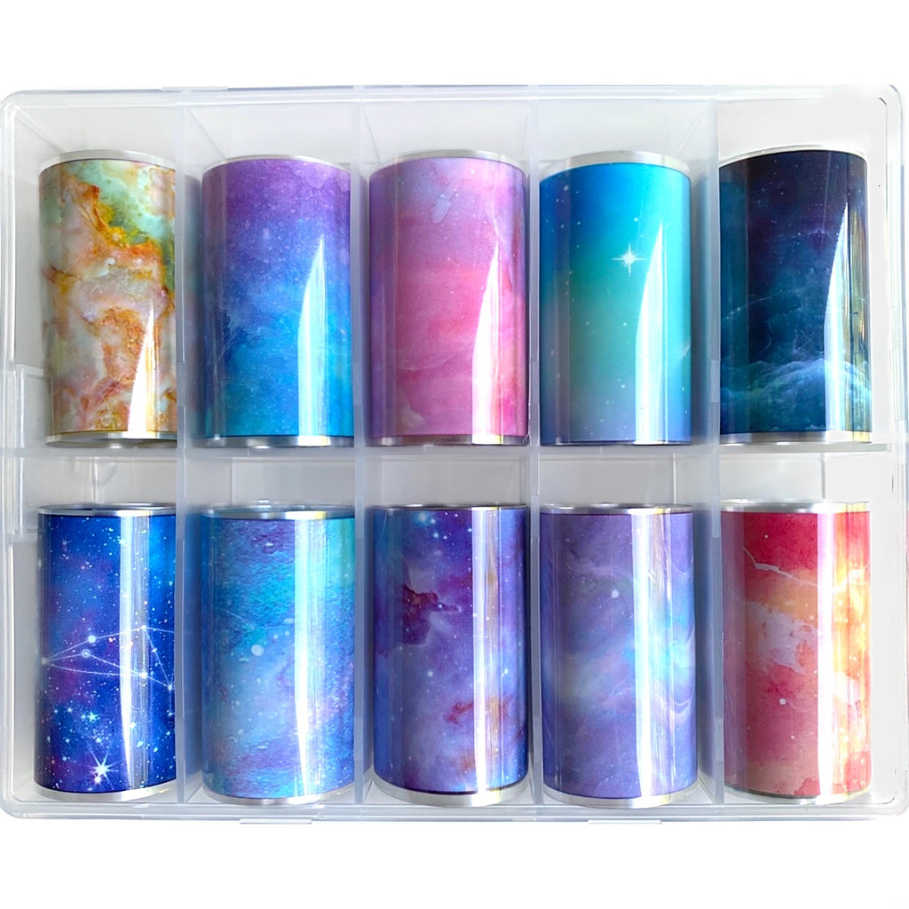Marble/Galaxy Nail Foil Transfer (10 Design)
