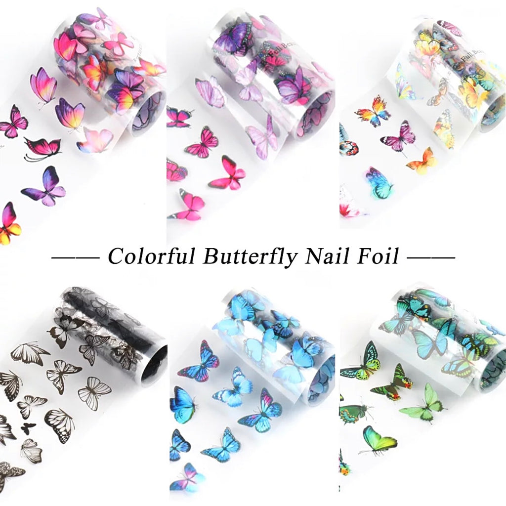 Butterfly Nail Foil Transfer (10 Design)