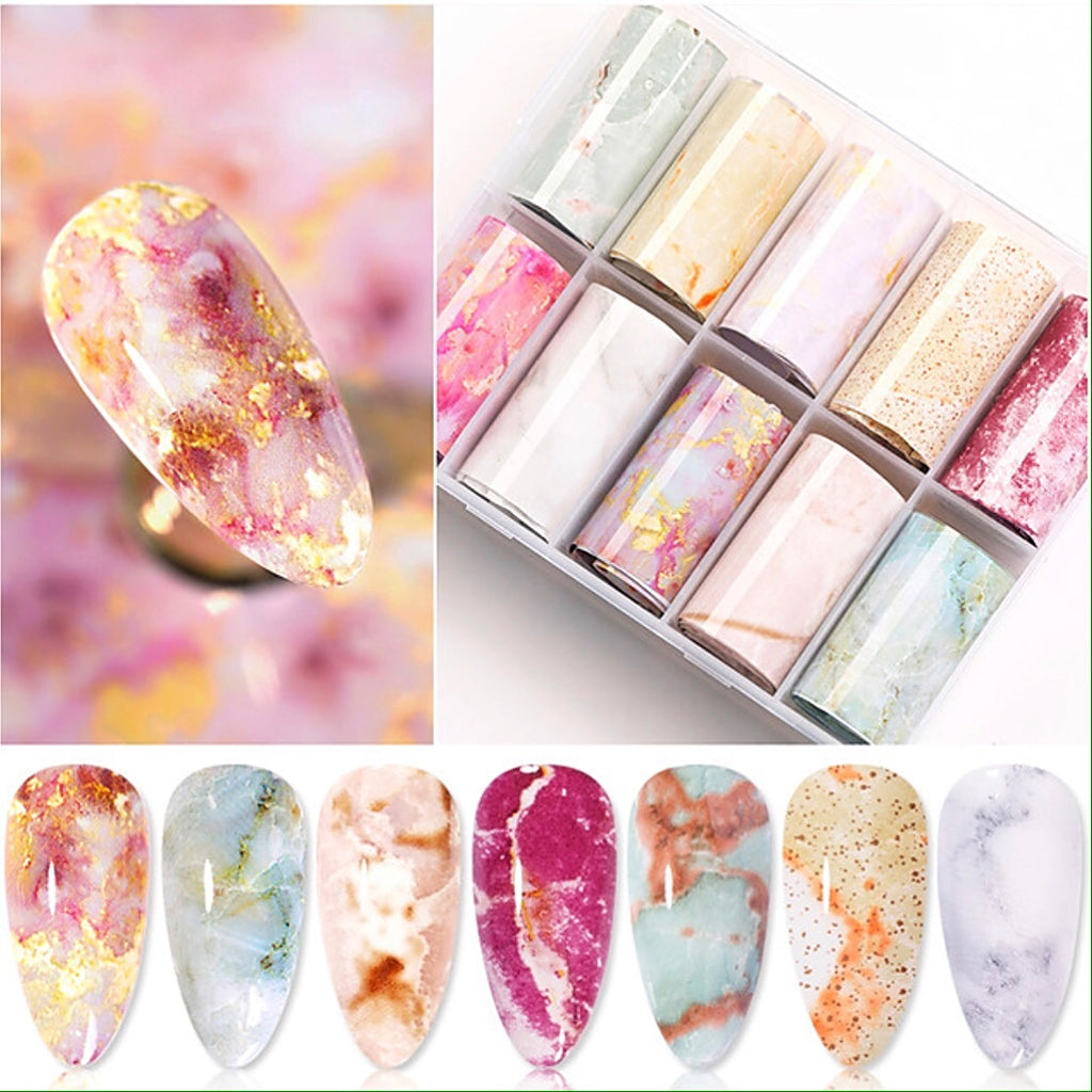 Marble Foil Transfer Set (10 Design)