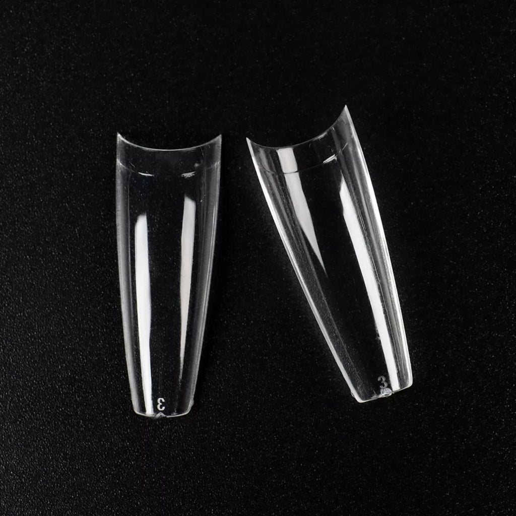 Long Coffin Clear Tips (Box Of 500 Pcs)