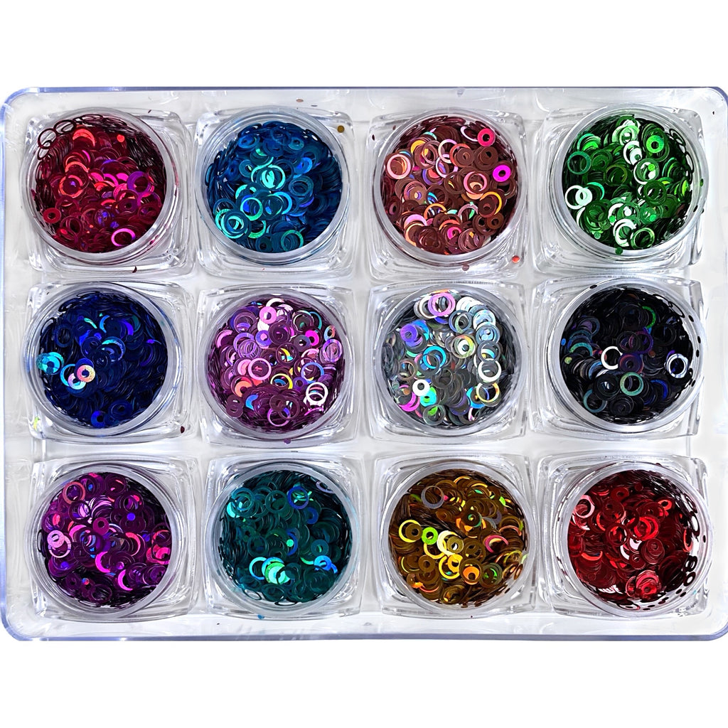 Mix Circles Glitter Set (12 Colors)