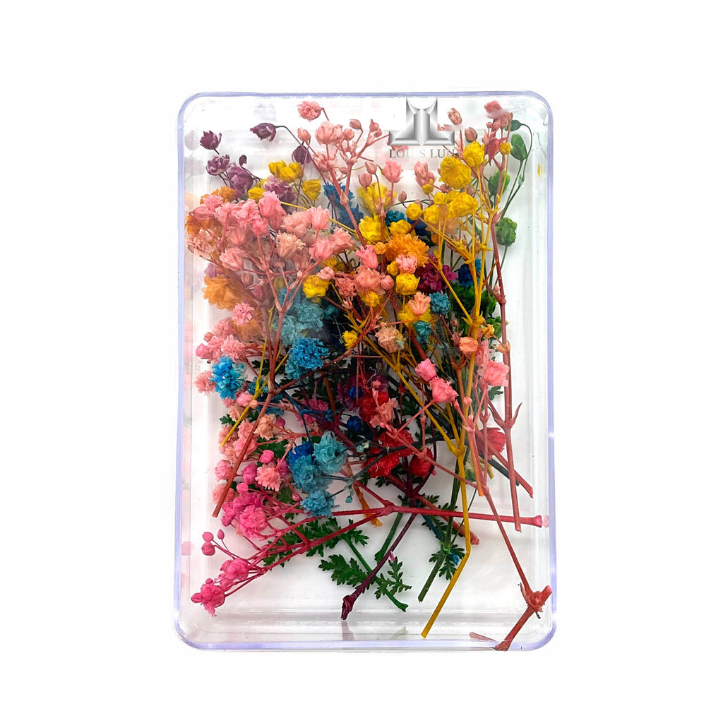 Dry Flowers Nail Art Decoration Box