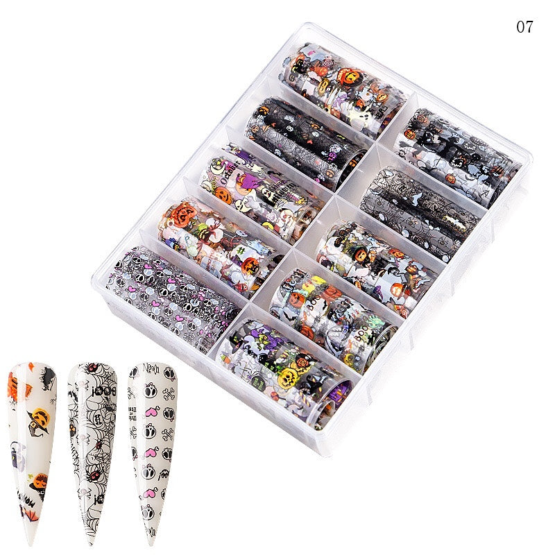 Halloween Nail Foil Transfer (10 Design)