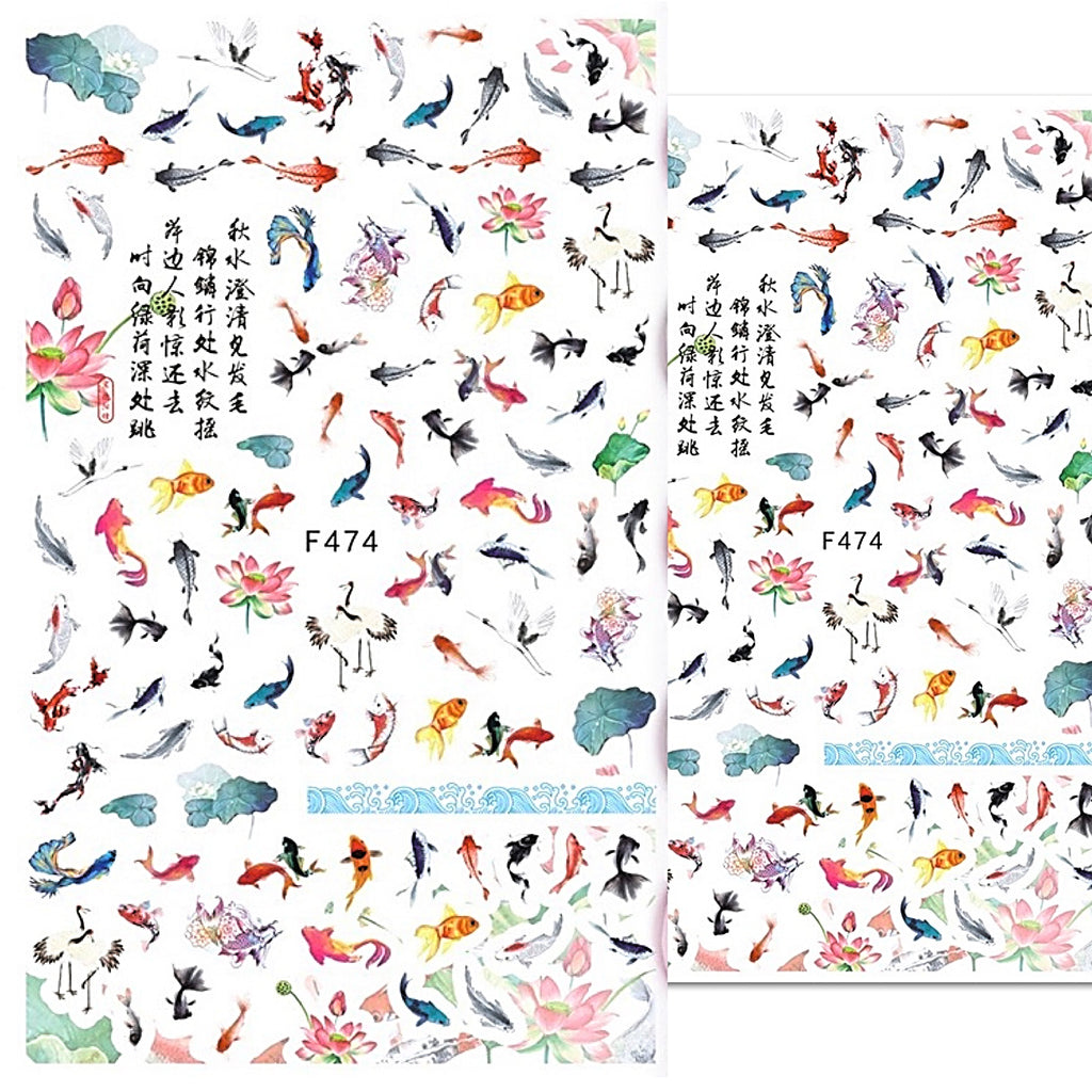 Japanese Style Nail Art Stickers