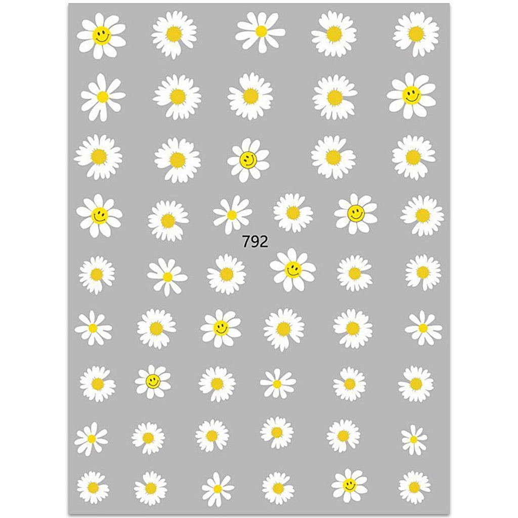 Daisy Flower Nail Art Stickers