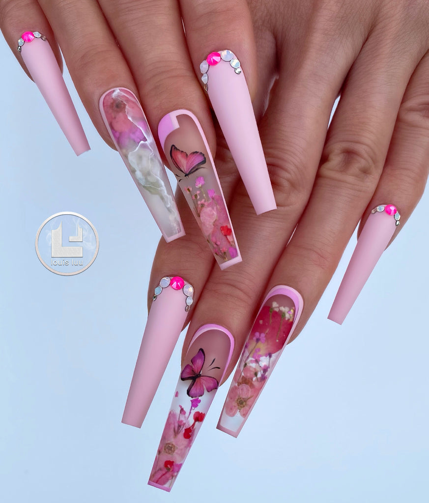 Mix Dry Flowers Nail Art Decoration
