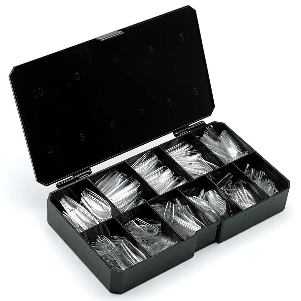 Long Coffin Press On Tips (Box Of 500 Pcs)
