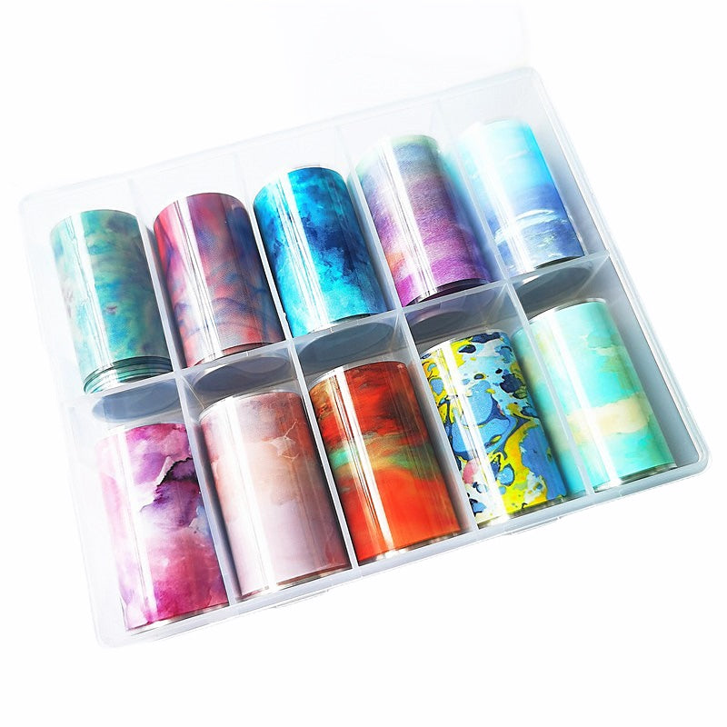 Marble Nail Foil Transfer Set (10 Design)
