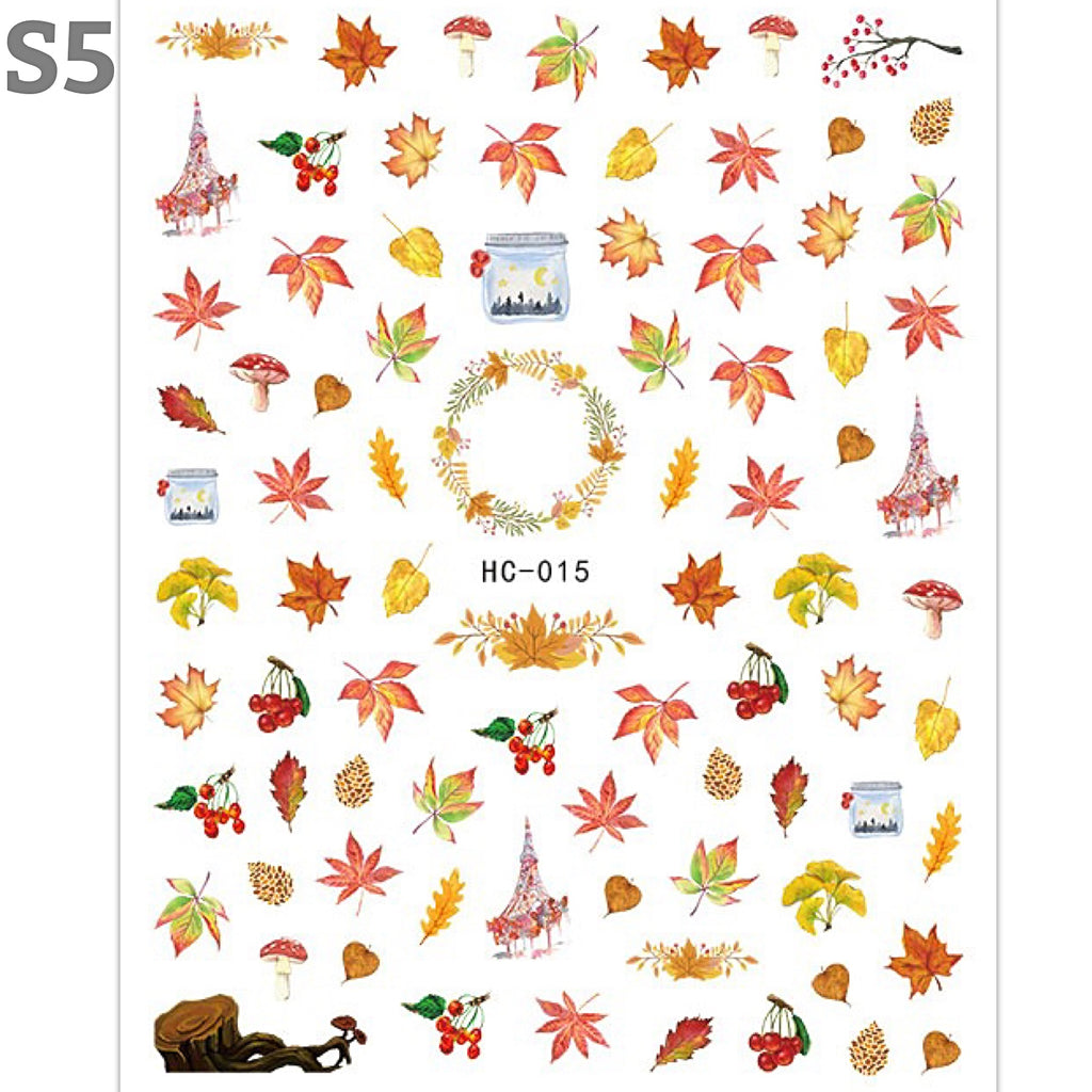 Autumn Leaf Nail Art Stickers