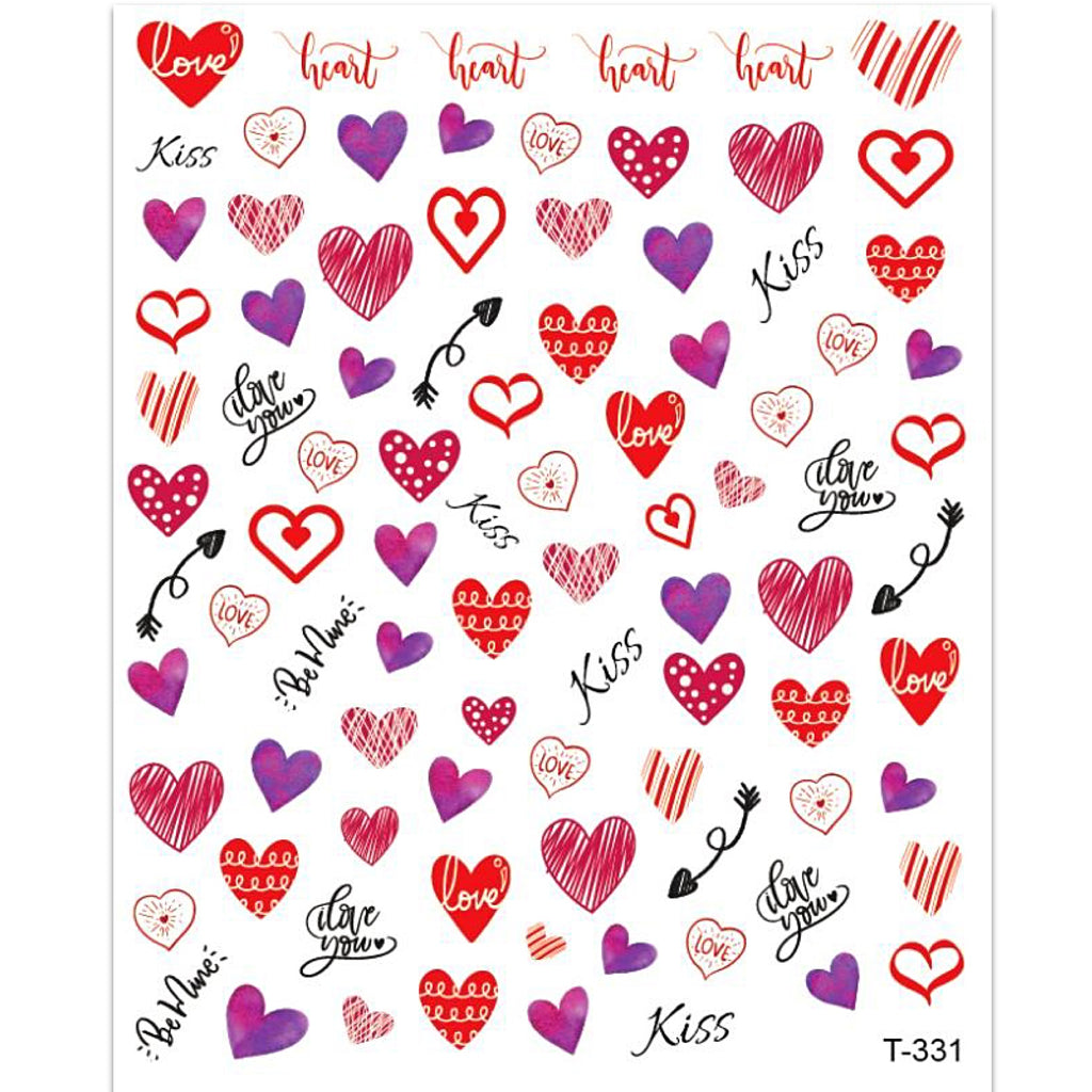 Valentines Nail Art Stickers