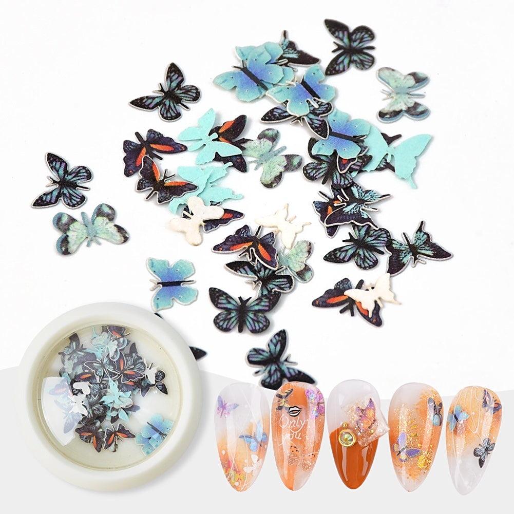 Japanese Butterfly Sequins Set Nail Art Decoration (6 Colors)