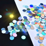 Mixed Size Holographic Round Glitter Nail Art Decoration
