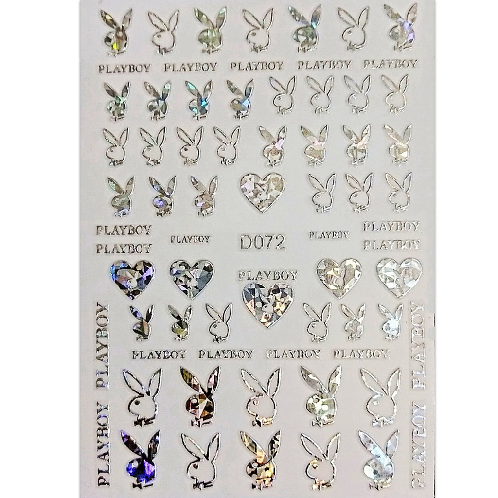 Bunny Nail Art Stickers (12 Colors)