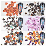 Halloween Mix Sequins Set Nail Art Decoration (6 Jar)