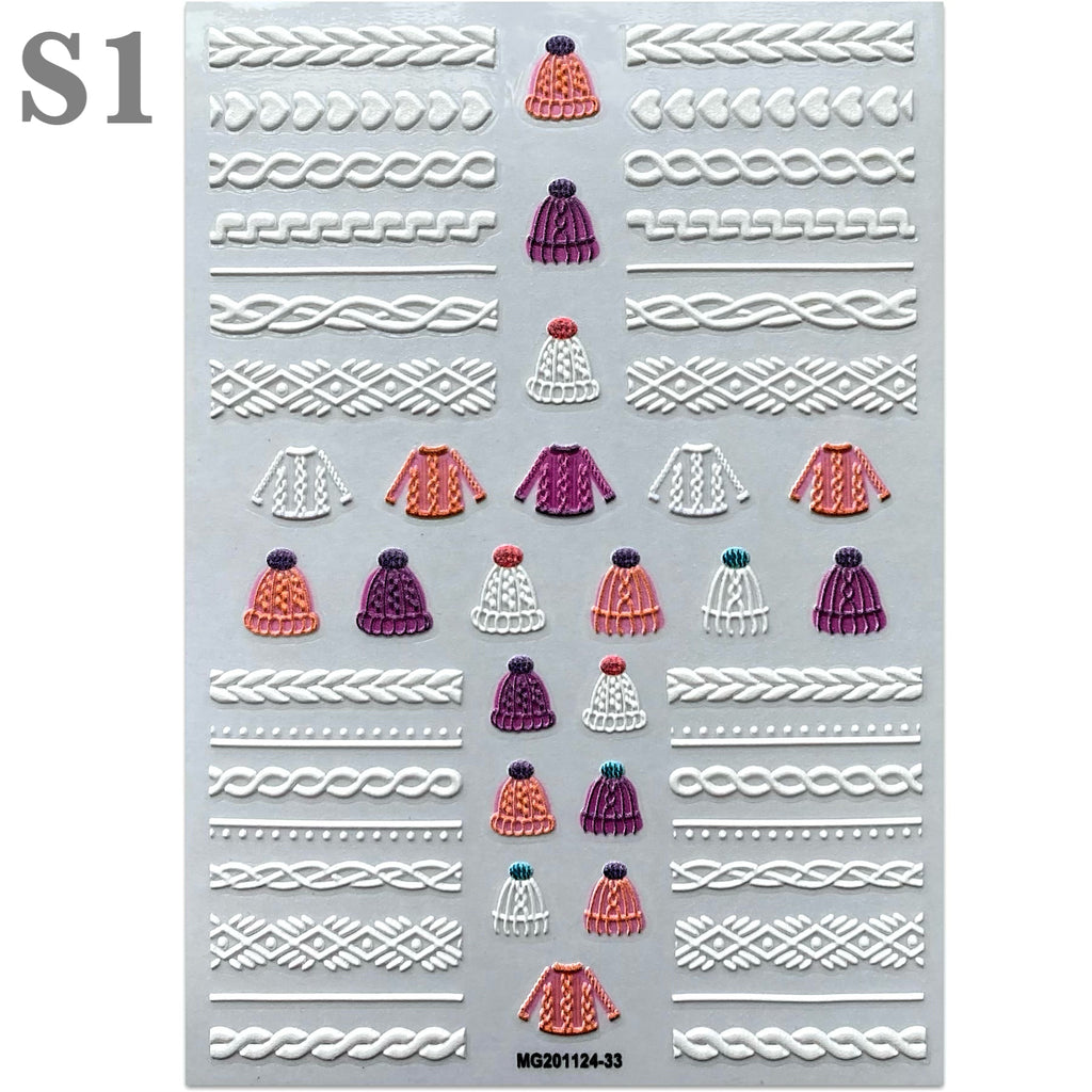 5D Sweater Nail Art Stickers